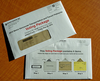 2015 Metro Vancouver Transportation and Transit Plebiscite Voting Package